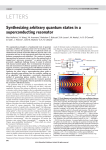 Synthesizing arbitrary quantum states in a superconducting resonator