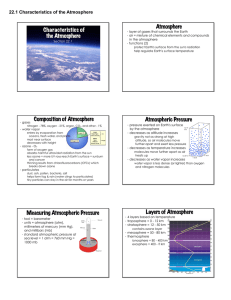 22.1 Characteristics of the Atmosphere