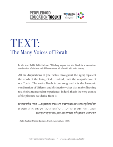 The Many Voices of Torah - The Center for Jewish Peoplehood