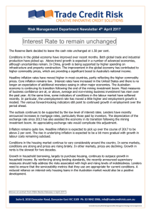 Interest Rate to remain unchanged