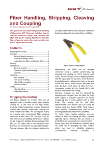 Application note: Stripping cleaving and coupling to