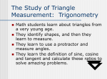 The Study of Triangle Measurement: Trigonometry