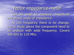 Vector impedance meter