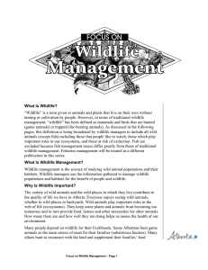Focus On: Wildlife Management - Alberta Environment and Parks