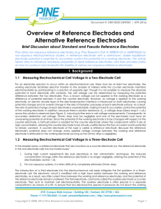 Overview of Reference Electrodes and Alternative