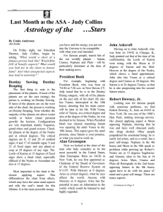 Astrology of the …Stars