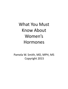 What You Must Know About Women`s Hormones
