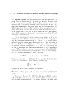 8. The Lie algebra and the exponential map for general Lie groups