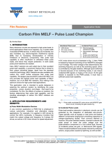Carbon Film MELF – Pulse Load Champion