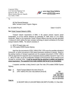 Packet Transport Network in BSNL 11-04-13