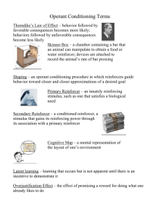Operant Conditioning Terms Teacher