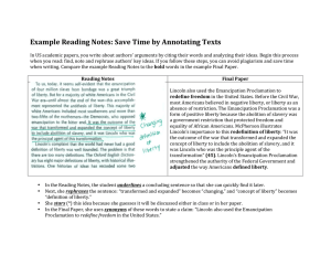 Example Reading Notes: Save Time by