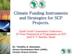 How is Climate Finance Positioned at the AfDB