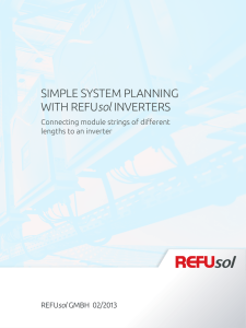 SIMPLE SYSTEM PLANNING WITH REFUsol