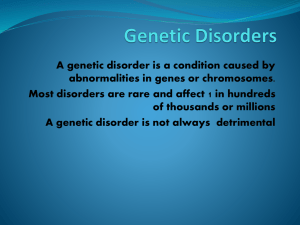 Genetic Disorders - Learn District 196