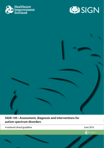 SIGN 145 • Assessment, diagnosis and interventions for autism