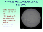 PowerPoint Presentation - Welcome to Modern Astronomy Fall 2003