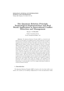 The Quantum Relation Principle: Technological Implementation and