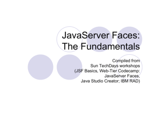 JavaServer Faces: The Fundamentals