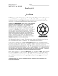 Judaism is one of the oldest religions still existing today
