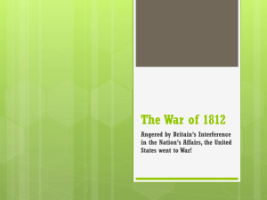 8-4 The War of 1812