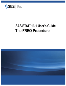 The FREQ Procedure