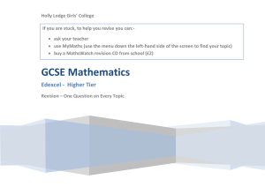 KS4 Maths Revision – Higher GCSE one question on everything