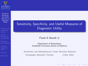 Sensitivity, Specificity, and Useful Measures of Diagnostic Utility