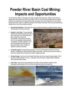 Powder River Basin Coal Mining - Powder River Basin Resource