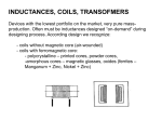 Frequency dependence of inductance