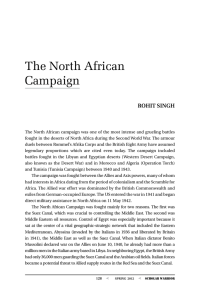 The North African Campaign, By Rohit Singh