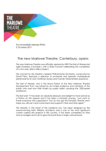 The Marlowe Theatre is open TUE 4 OCT 2011