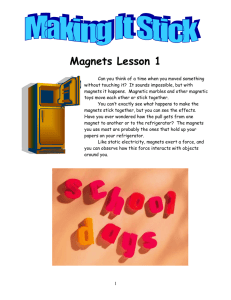 Magnets Lesson 1