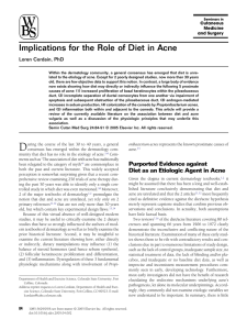 Implications for the Role of Diet in Acne - Direct-MS
