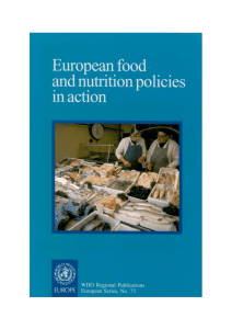 European food and nutrition policies in action - WHO/Europe