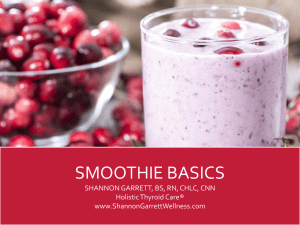 Smoothie Basics - HOLISTIC THYROID CARE