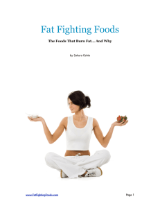 Fat Fighting Foods