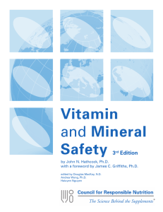 Vitamin and Mineral Safety 3rd Edition
