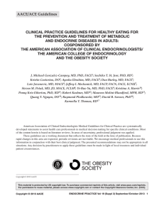 Clinical Practice Guidelines for Healthy Eating