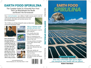 EaRtH Food SpiRulina