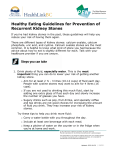 Healthy Eating Guidelines for Prevention of