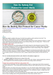 How the Budwig Diet Protocol for Cancer Works