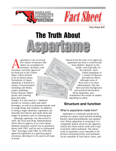 The Truth About - Aspartame Resource Center