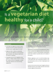 vegetarian diet healthy  child?