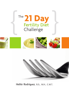 { 21 Day Fertility Diet Challenge