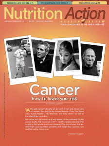 Cancer W how to lower your risk