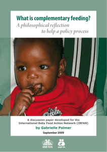 What is complementary feeding? A philosophical reflection to help a policy process