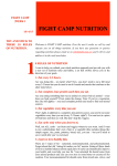 FIGHT CAMP NUTRITION WEEK 1