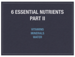 6 ESSENTIAL NUTRIENTS PART II