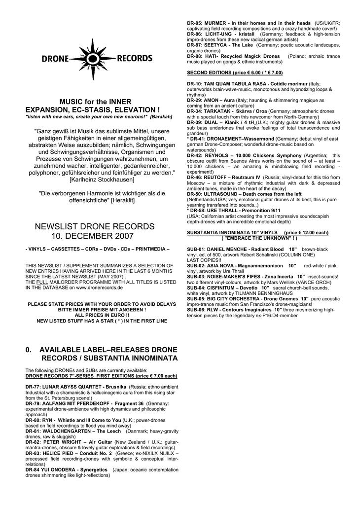 cb1f73f41bfa40 codes - Drone Records